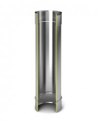 Модуль дымохода Ø115, 1м, 0,5мм